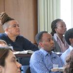 "Detailbild des Publikums bei der Tagung ""Human Rights Beyond Borders"""