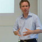 Bild von Markus Krajewski beim Vortrag von Ingrid Leijten