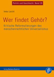 """Coverbild zu Imke Leichts Buch """"Wer findet Gehör?"""""""