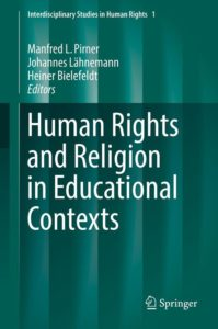 "Coverbild des Bandes ""Human Rights and Religion in Educational Contexts"""