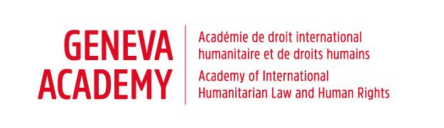 Logo der Geneva Academy und Link zu deren Homepage
