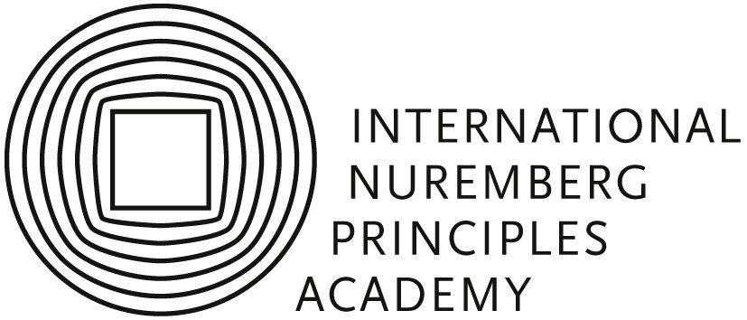 Logo der Internationalen Akademie Nürnberger Prinzipien und Link zu deren Homepage