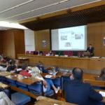 Foto des Vortrages von Markus Krajewski zu Menschenrechtsverletzungen durch Unternehmen