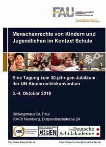 Cover Flyer Kinderrechtstagung