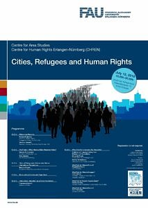 Plakat Cities Refugees and Human Rights
